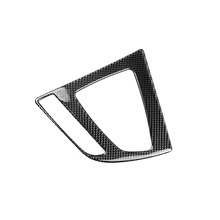 For BMW F30 F34 3 Series 320i 2013-2017 Carbon Fiber Car Gearshift Panel Cover Interior Trim Stickers Accessories Styling car headlight switch button decorative frame cover trim for bmw 3 4 series gt f30 f34 2013 2018 car styling modified stickers