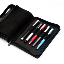 KACO długopis piórnik torba dostępne na 10 pióro wieczne/pióro kulkowe pojemnik do przechowywania torba do przechowywania czarna wodoodporna