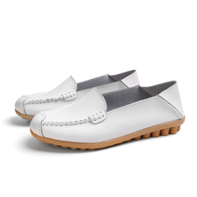 Leather Moccasins Ladies Shoes Flats Women's