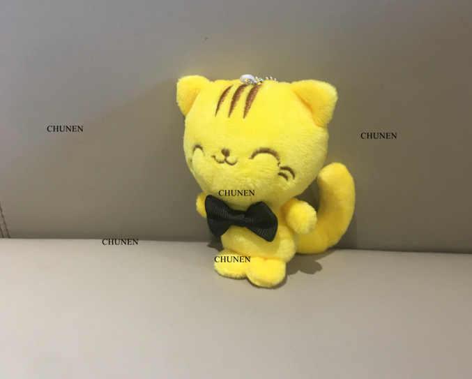 מקסים 10CM חתולים בפלאש ממולא צעצוע, חתול בפלאש צעצוע בובת; מתנת מפתח שרשרת בפלאש צעצוע של חתונת זר