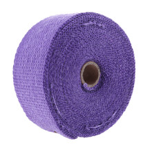 "2 ""x 32ft Viola Moto Di Scarico Termico Wrap Rotolo In Fibra di vetro di Calore Shield Tape Universale(China)"