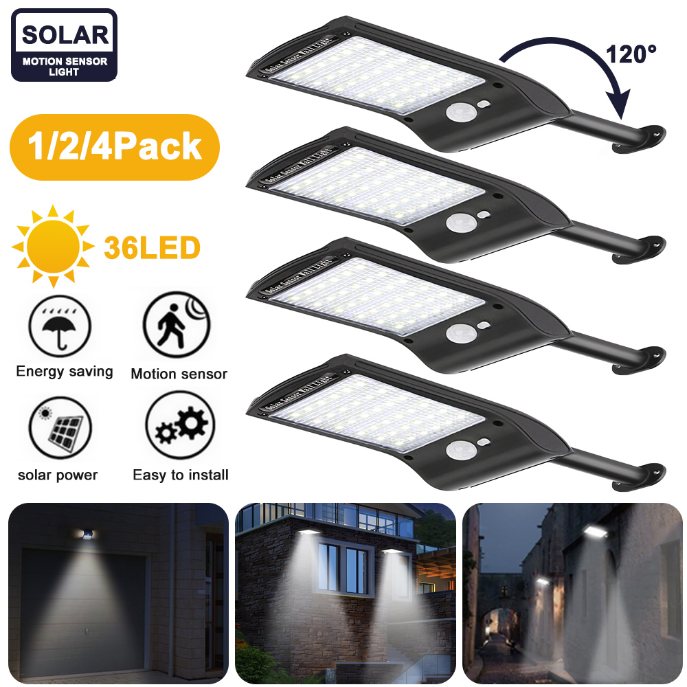 New 36 LED Solar Power Street Light Rechargeable PIR Motion Sensor Night Lights Outdoor Waterproof IP65 Solar Wall Lamp