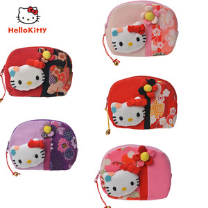 Hello Kitty bag classic Anime figures small wallet cotton cloth can hold change keys cosmetics toys for girls  Christmas gifts
