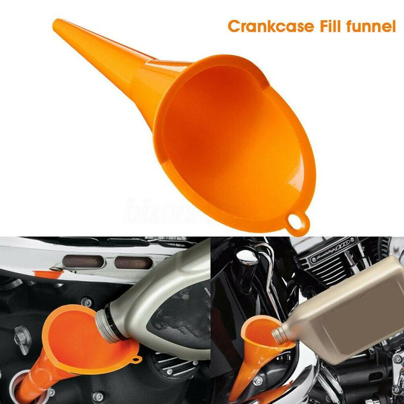 Car Motocycle Crankcase Fill Funnel Primary Case Oil Fill Drip-free Oil Funnel Vehicles Universal Reusable Plastic Oil Funnel