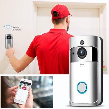 M3 ראיית לילה WIFI חכם וידאו פעמון אלחוטי נייד בית דלת בל אלחוטי טלפון אינטרקום חכם בית חלקי