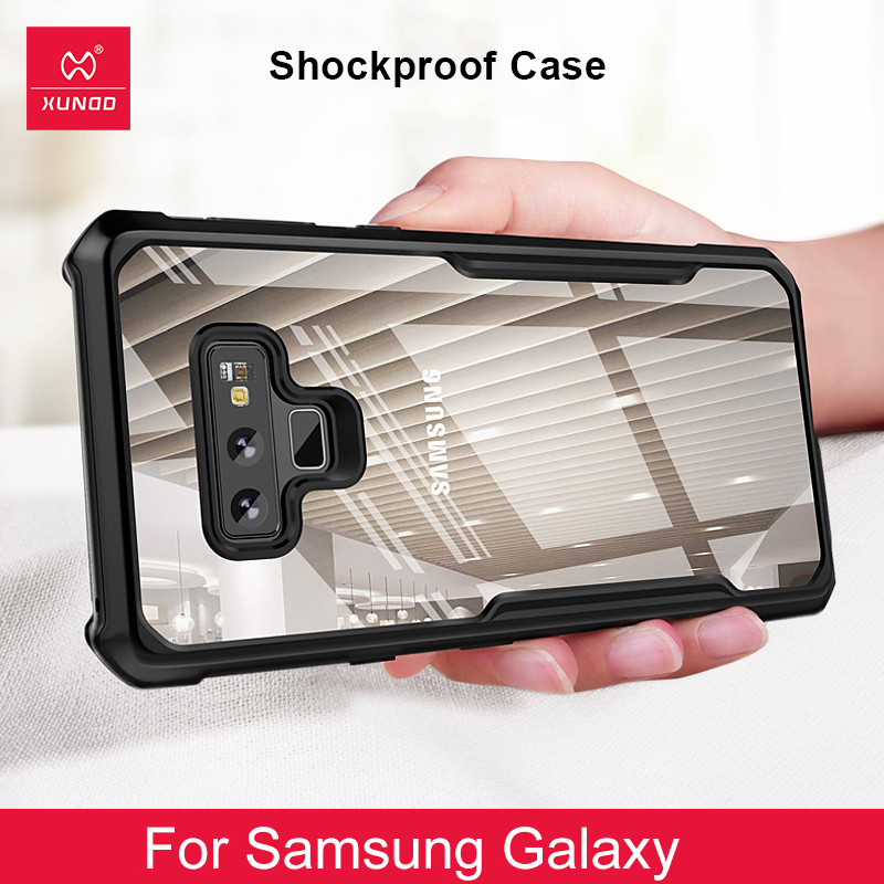Luxury Transparent Back <font><b>Case</b></font> For <font><b>Samsung</b></font> Galaxy <font><b>Note</b></font> <font><b>8</b></font> 9 10 S10 E S9 S8 Plus S20 Ultra Phone <font><b>360</b></font> Shockproof Cover Silicone <font><b>Cases</b></font> image