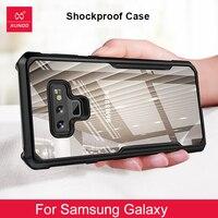 Luxe Transparante Case Voor Samsung Galaxy Note 8 9 10 S10 S9 S8 Plus S20 Ultra Telefoon Back Cover 360 schokbestendig Siliconen Gevallen