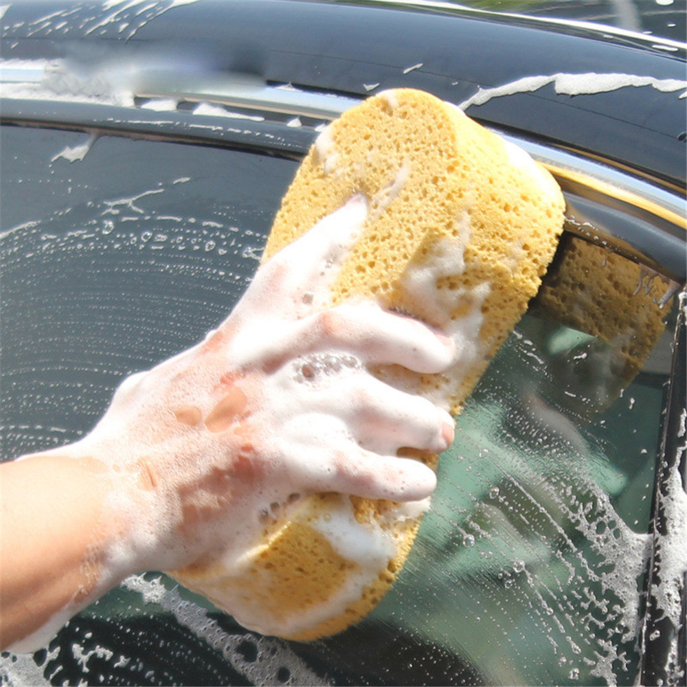 Car Wash Sponge Block Car Motorcycle Cleaning Supplies Large Size Sponge Brush Dusting Random Color Car Cleaning Tool