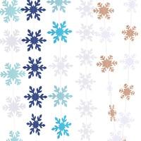 Copos de nieve de Navidad de decoración DIY colgante de Año Nuevo invierno la fiesta de cumpleaños de decoración de papel para crear copos de nieve Garland