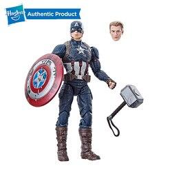 Hasbro Marvel leyendas 6 pulgadas Capitán América el poder y la gloria exclusiva con Mjolnir martillo vengadores y hidra de granizo Arnim Zola