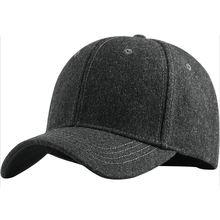 Мужская шерстяная бейсболка уличная вязаная кепка очень большой