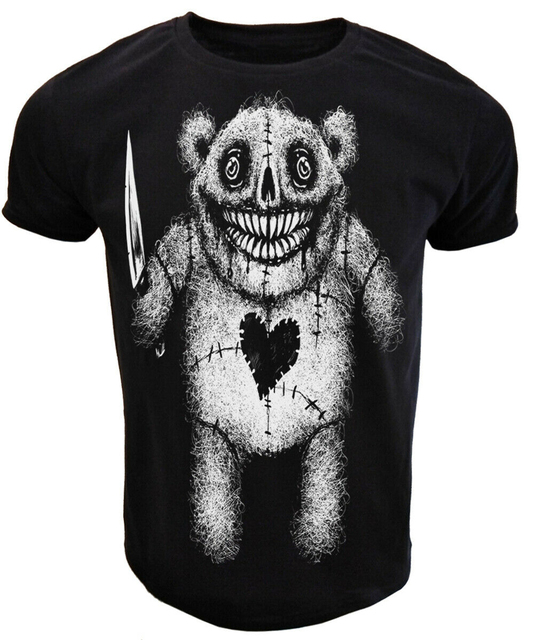 Böse Teddy T Shirt Herren Damen Gothic Rock Punk Goth Alternative T Geschenk Sommer T Shirt