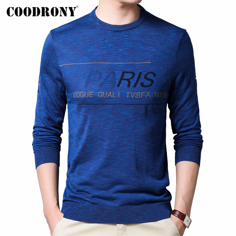COODRONY Brand Sweater Men Cotton Knitwear Fashion Casual O-Neck Pullover Men Clothes Spring Autumn New Arrival Pull Homme C1039
