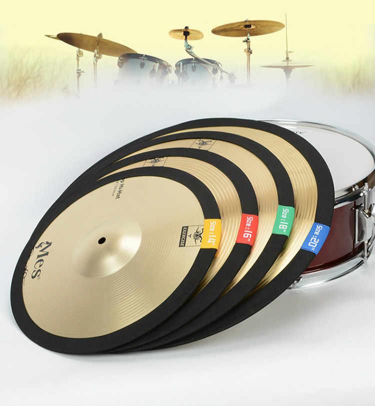 1 Pcs Elastische Riem Dampener Drummen Praktijk Pad Cimbaal Mute Praktijk Geluiddemper Pad Drum Kit Onderdelen Accessoires