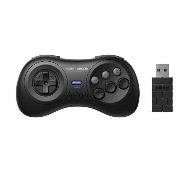 8bitdo juego inalámbrico M30 2,4G para Sega Genesis, minicontrolador de juego inalámbrico para Mega Drive, Min, Nintendo Switch