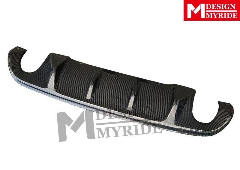 For Infiniti Q50 Q50S High quality Carbon Fiber Rear Bumper Diffuser lip Spoiler Q50 S Style Rear Tail Bumper Lip Diffuser 15 17 in Bumpers from Automobiles Motorcycles