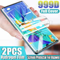 Protector de pantalla con película de hidrogel para Huawei P30 Pro, P20, P10, P40 Lite Pro, Honor 10, 20 Lite, 8X, P Smart 2019, película suave sin cristal, 2 uds.