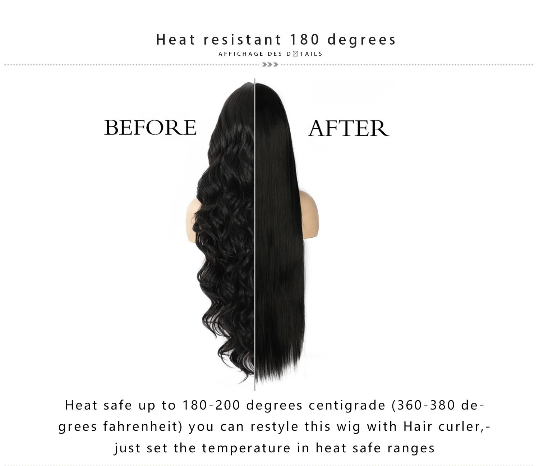 sintéticas ombre brown losse onda cachos perucas