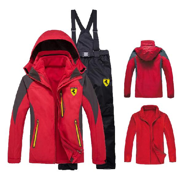Men Winter Outdoor Coat + Pants Ski Suit Sets Jacket Snowboard Hiking Climbing Windbreak