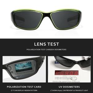 Image 4 - Kdeam Merk Vissen Bril Outdoor Sport Zonnebril Voor Mannen Pc Frame Hd Lens Gepolariseerde UV400 Bril Klimmen Zon Glassess