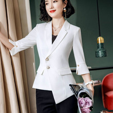 Fashion women's suit 2020 spring and summer casual ladies jacket Office temperament solid color blazer Interview clothing