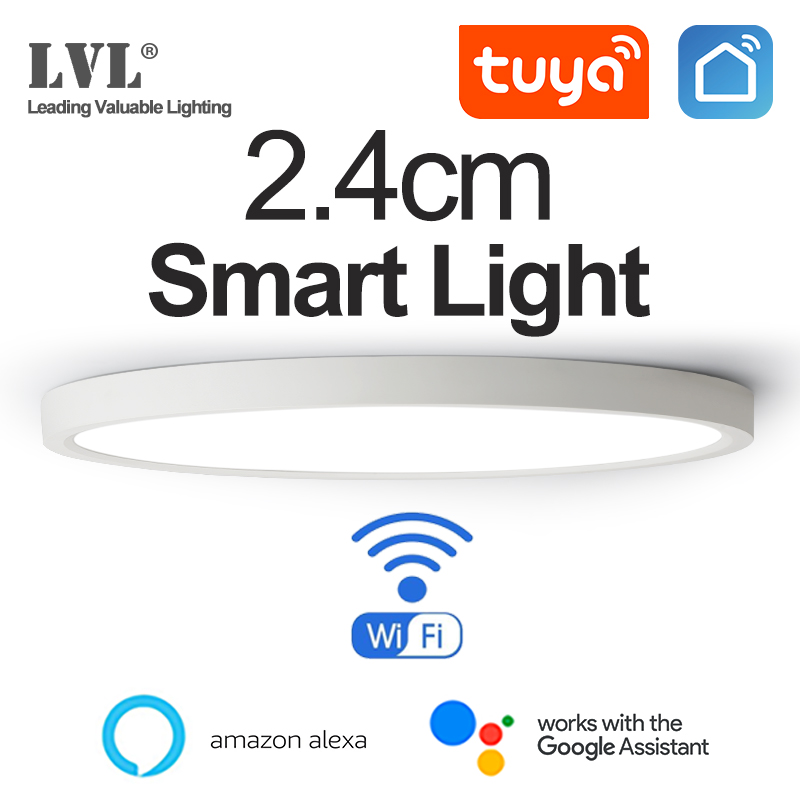 LED Smart Panel Light WiFi App Voice Control Work With Google Home Alexa Echo Ultrathin Surface Mounting LED Panel
