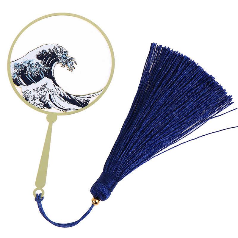 1pc Metalen Surf Golf Fan Bookmark Elegante Literaire Prachtige Gift Bladwijzer School Kantoorbenodigdheden