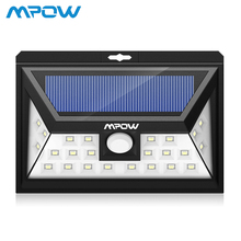 Mpow 24 LED Solar Light Outdoor Wireless Motion Sensor Wall Lamp 1/2/4