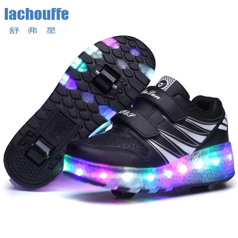 Kids Led Light Sneakers Boy Girls Roller Skate Wheel Shoes For Kids Led Lightup Shoes Girls Boys Lighting Skatee Roller Shoes