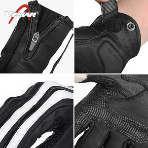 Image 3 - VEMAR Motorcycle Gloves Men Leather Moto Motocross Gloves Breathable Motorbike Gloves Touch Function Guantes Moto Riding Gloves