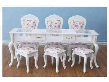 European style white baking lacquer special price double deck manicure table single double person three person manicure table