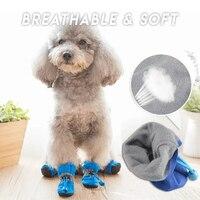 Weichen Hund Schuhe 4Pcs Einstellbare Kordelzug Nicht-slip Regen Stiefel für Pet Hunde Welpen Katze TSH Shop
