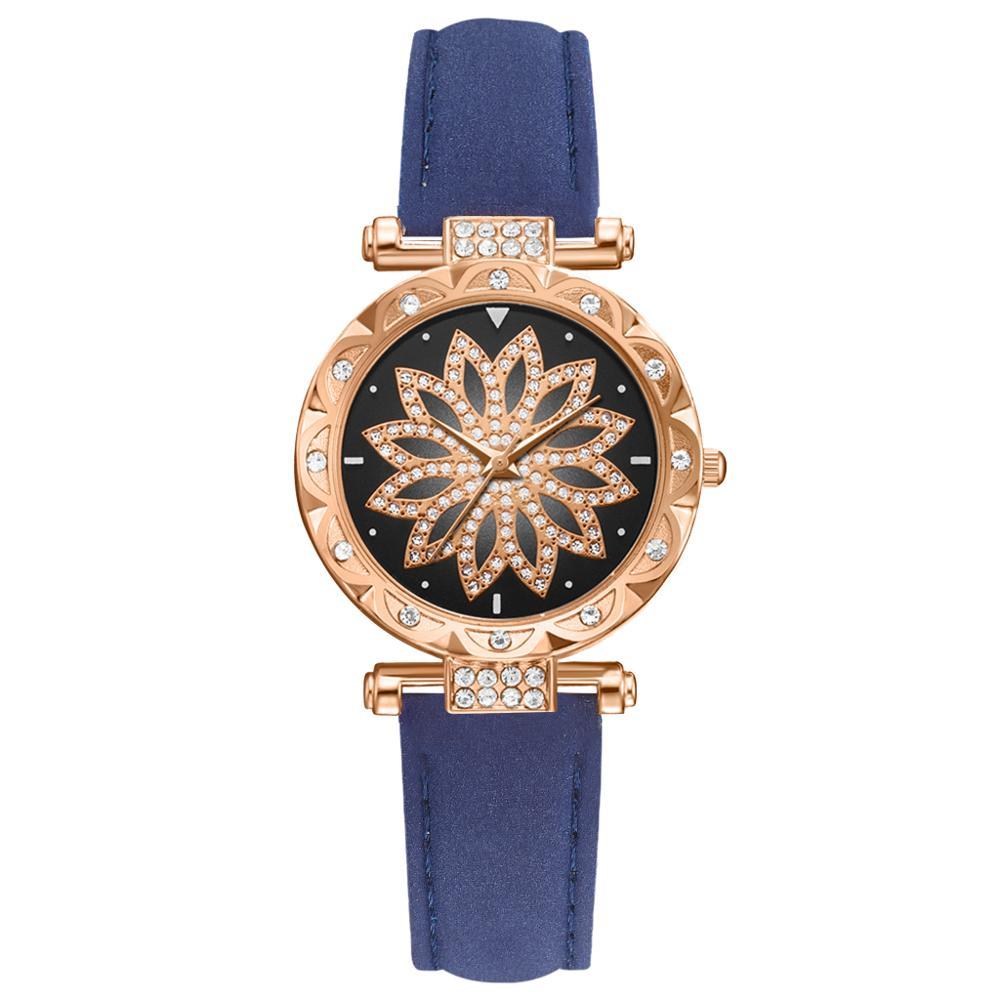 2019 Women Watches Bracelet set Starry Sky Ladies Bracelet Watch Casual Leather Quartz Wristwatch Clock Relogio Feminino