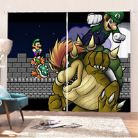 Super Mario Home Curtains Bathroom Curtains Hot Game Short Curtains Blackout Curtains Room Colorful Curtain Kitchen Curtains