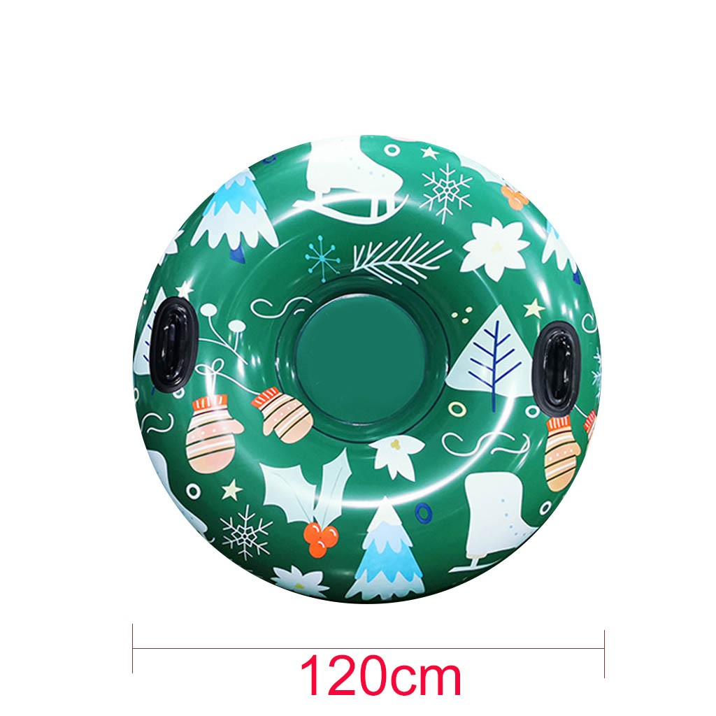Floated Skiing Board PVC Winter Inflatable Ski Circle With Handle Durable Children Adult Outdoor Snow Tube Skiing Accessories #C