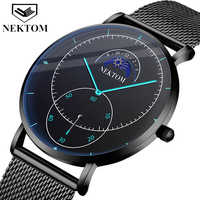 Black Wrist Watch Men Watches Male Business Style Wristwatches Stainless Steel Quartz Watch For Men Clock Reloges With Calendar