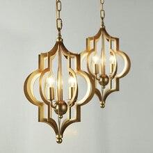 Hot Sale Luminaria American Dining Room Bedroom LED Light Fixtures Abajur Art Living Coffee Shop Loft Gold Chandelier Lighting