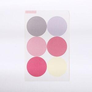 60 шт. корейский стиль Morandi цвет деко наклейки Заготовки круглые красочные канцтовары наклейки Скрапбукинг дневник розовая бумага наклейки