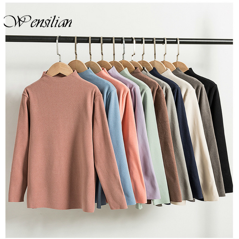 Cation Knitting Sweaters Casual Pullover Winter Clothes Women Women Collar Thermal Sweaters Underwear Shirts Sueter Mujer 2020(China)