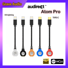 Hilidac Audirect Atom Pro Phone Decoder MQA ESS9218C Pro Lossless Portable Headphone Amplifier AMP USB DAC TYPE C/Lightning