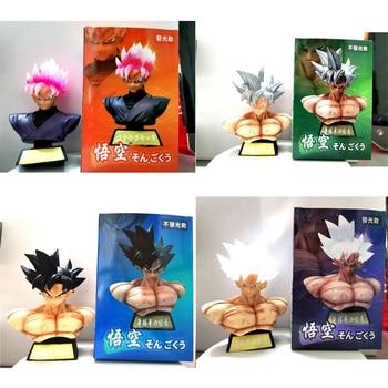 16cm Super Saiyan Son Goku Ultra Instinct Bust Black Zamasu Action Figure GK Collection Figure Dragon Ball Z Goku Figurine Toys new dragon ball super saiyan god action figure son goku gohan vegeta vegetto frieza zamasu ultra instinct model toys b838