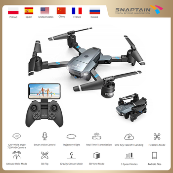 SNAPTAIN AA5MQ 720P/1080P WIFI FPV With Wide Angle HD Camera Hight Hold Mode Foldable Arm RC Quadcopter Drone Dron jjr c jjrc t49 sol ultrathin wifi 720p camera fpv selfie drone auto foldable arm altitude hold rc quadcopter vs h37 h47 e57