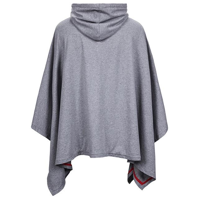 Unisex casual Con Cappuccio Poncho Cape Mantello Hip Hop Streetwear Uomini Felpe Felpe Cappotto di Moda Con Cappuccio Pullover con Tasca XXL