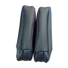 2pcs Armrest Cover Black Leather Holsters Interior Left+right Accessories
