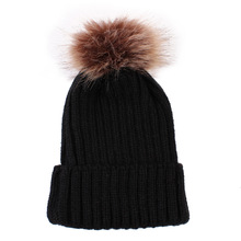 цены на Autumn and Winter Hats Children Beanie Wool Knitted Hat Hair Ball Cap 0-3 Years Old Baby Keeping Warm Lovely Boy Girl Ear Caps  в интернет-магазинах