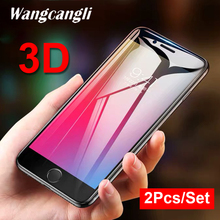 2PCS/SET 3D glass protective film for iPhone6 6S HD screen protector transparent hard glass film for iPhone6S 6 9H full screen цена 2017