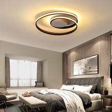 Nowoczesny żyrandol LED do salonu jadalnia sypialnia LED z możliwością przyciemniania oprawy białe czarne żyrandole sufitowe oprawy oświetleniowe tanie tanio NoEnName_Null 90-260 v 8155 Żyrandole Aluminium Nowoczesne