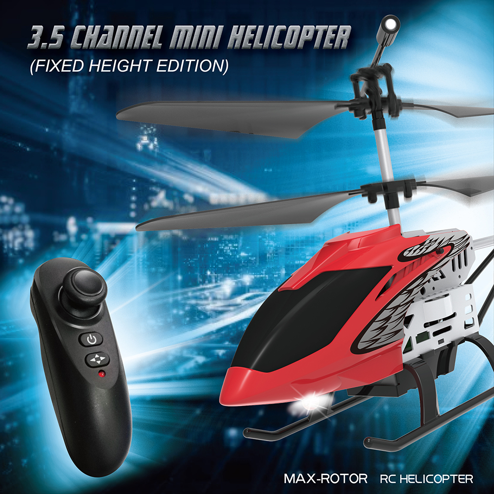Helicopter Metal Mini RC Drone RC Helicopter 3.<font><b>5</b></font> CH One-key Flight helicoptero Outdoor Funny Dron 2.4Ghz Remote Drone kids Toys image