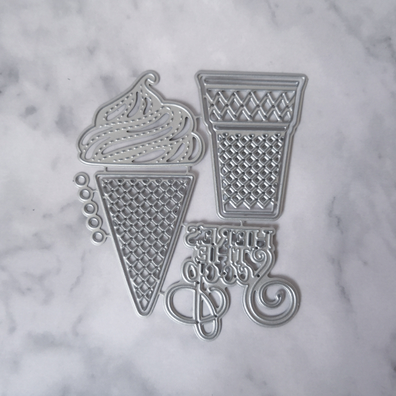 Ice Cream Metal Cutting Dies Stencils for Scrapbooking Album Sweet Tube Craft Die Cut for Card Making Decoration Embossing in Cutting Dies from Home Garden