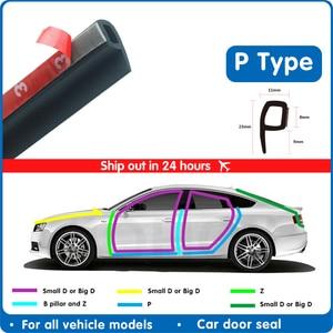 Car Door Rubber Seal Strip P Type Noise Insulation Car Door Sealing Strip Weatherstrip Anti-dust Rubber Door Seals